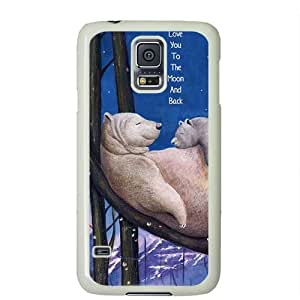 S5 case ,Samsung Galaxy S5 case ,fashion durable white side design Samsung Galaxy S5 case, pc material Samsung cover ,with Polar BearI I love you to the moon and back.