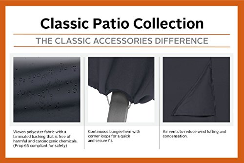 Classic Accessories 55-815-040401-00 Patio Lounge Chair Cover, Black, Large by Classic Accessories (Image #2)