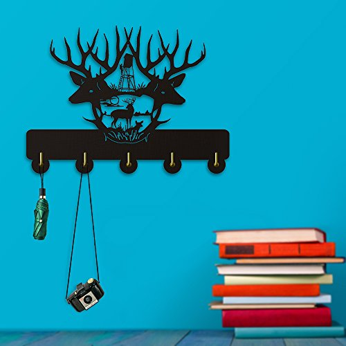 Observatory Hunter Hunting Design Wall Decor Wall Hooks Wild Animals Deer Wall Clothes Coat Towel Hooks Bathroom Decor Hanger by The Geeky Days