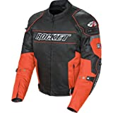 Joe Rocket Resistor Men's Mesh Sports Bike Racing Motorcycle Jacket - Orange/Black / Large