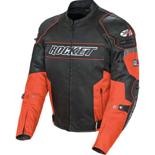 Joe Rocket Resistor Men's Mesh Sports Bike Racing Motorcycle Jacket - Orange/Black / Large by Joe Rocket