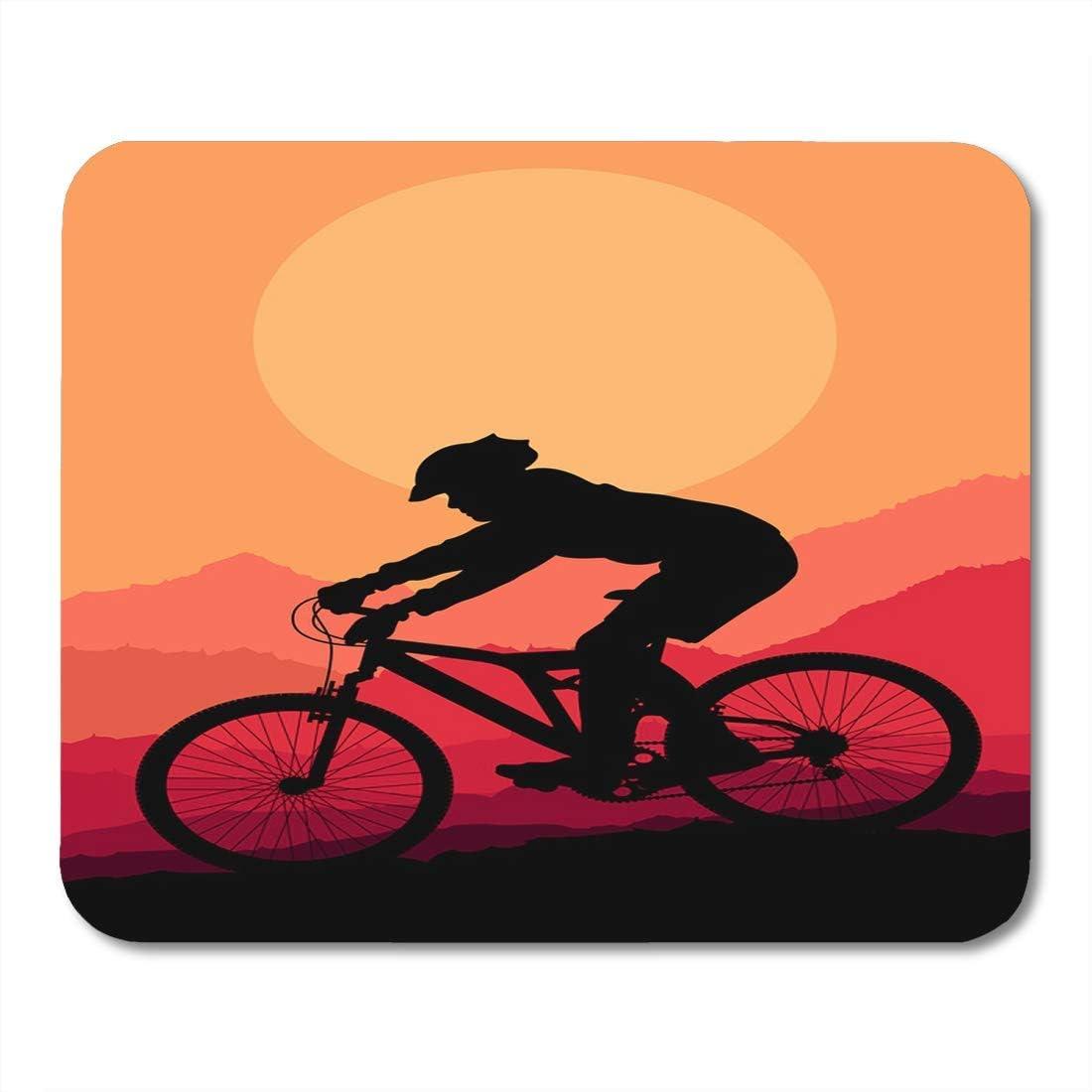 Almohadillas para Mouse Silueta para Ciclista de Bicicleta de ...