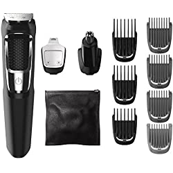 Philips Norelco Multi Groomer - 13 piece, beard, face, nose, and ear hair trimmer and clipper, FFP