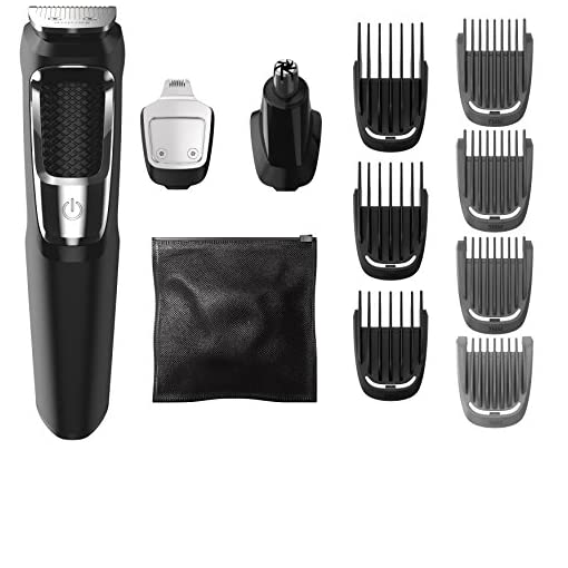 Philips Norelco Multigroom Series 3000, MG3750/50, Beard Face and Body Hair Trimmer for Men, 13 Attachments - NO BLADE OIL NEEDED - 51s7FUpMbHL - Philips Norelco Multigroom All-in-One Trimmer Series 3000 with 13 pieces – No Blade Oil Needed, MG3750/50