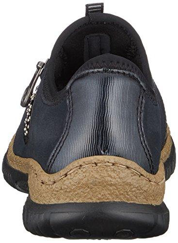 schwarz Sneaker N3268 Donna Infilare baltik 01 Blu pazifik Rieker schwarz Ff8Ov5n8