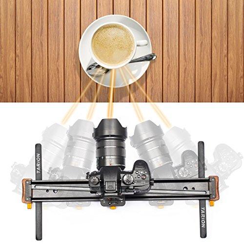 "TARION V-20 Camera Slider 20"" Video Track Slider Rail Dolly Aluminum 35 ° Rotation 8.8 LB Load for DSLR Cameras Phones"