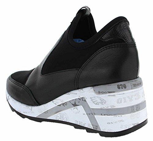 Cetti Dames Wedge Sneaker C1121 Zwart