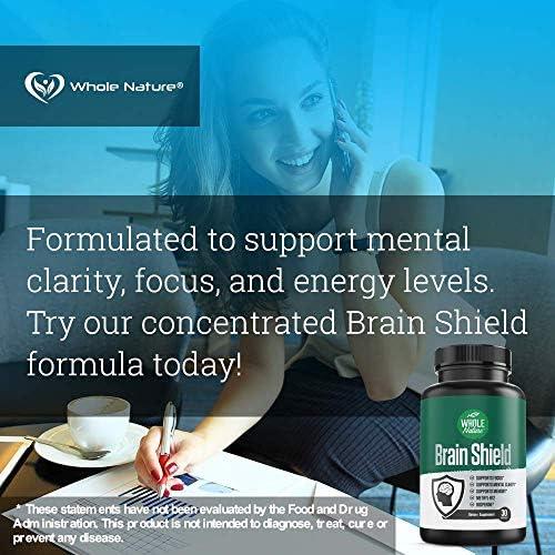 Whole Nature Nootropics Brain Supplement Brain Shield Nootropic Supplements with Ginkgo Biloba Alpha