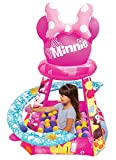 Minnie Mouse Big Heart & Bows Ball Pit, 1 Inflatable & 50 Sof-Flex Balls, Pink, 43'W x 43'D x 38'H
