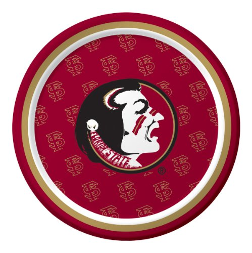 Florida State Football Halloween Costume - 8-Count Round Dessert Paper Plates, Florida State Seminoles