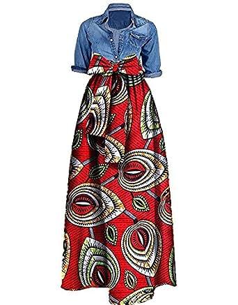 Amazon.com: Helerma Womens African Ankara Print Skirt Ball Gown
