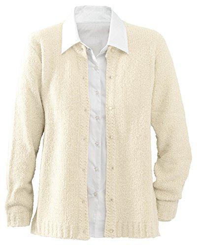 - National Bouclé Cardigan Sweater, Cream, X-Large