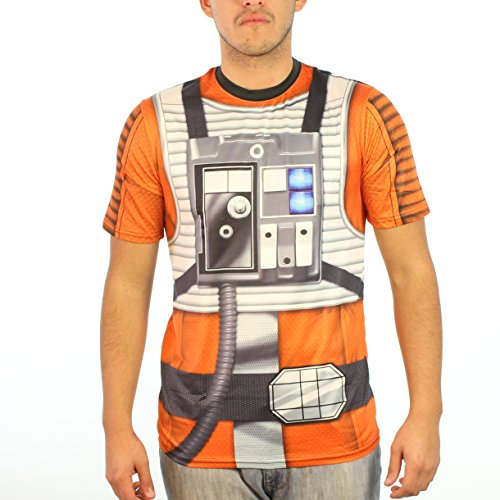 [Star Wars Rebel Pilot Sublimated Costume Men's Grey T-shirt] (Rebel Star Wars Costume)