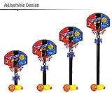 YOOYOO Kids Adjustable Basketball Hoop Basketball Set with Inflator Pump