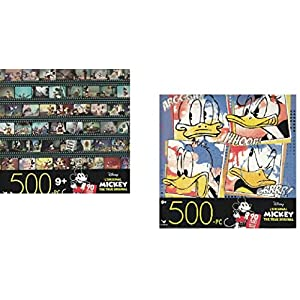 500 Piece Disney Jigsaw Puzzle Bundle- Donald Duck and Mickey Mouse Adult Puzzles