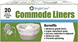 Commode Liners (20 COUNT) - Sanitary Bag Liners with Absorbent Gelling Pad for Bedside Commode Pail Toilet - By BrightCare