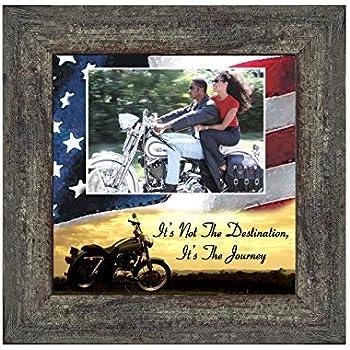Its not the Destination, Harley Davidson Bike, 10X10 9754BW