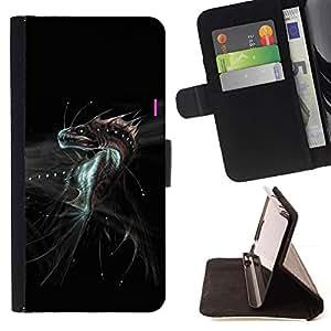 For Sony Xperia Z1 Compact / Z1 Mini (Not Z1) D5503 Case , Dragón de la fantasía del monstruo- la tarjeta de Crédito Slots PU Funda de cuero Monedero caso cubierta de piel