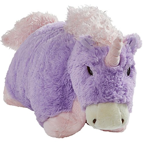 "Pillow Pets Signature Stuffed Animal Plush Toy 18"", Lavender Unicorn"