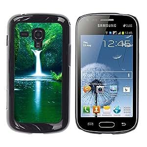 TopCaseStore / la caja del caucho duro de la cubierta de protección de la piel - Spring Waterfall - Samsung Galaxy S Duos S7562