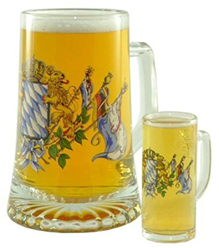 BAVARIAN FLAGS FATHER & SON STEIN UNIQUE GERMAN FATHER'S BEER GLASS STEIN ()