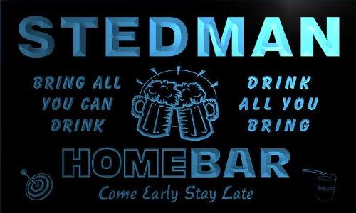 q43014-b STEDMAN Family Name Home Bar Beer Mug Cheers Neon Light Sign