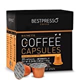 Bestpresso Coffee for Nespresso OriginalLine Machine 120 pods Certified Genuine Espresso Ristretto Blend(High Intensity), Pods Compatible with Nespresso OriginalLine 60 Days Satisfaction Guarantee