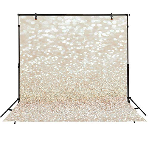 Funnytree 8X8ft Bokeh Golden Spots Backdrops for Photography Christmas Winter Shinning Sparkle Sand Scale Background Professional Easter Newborn Baby Children Portrait Photo Studio Photobooth Props