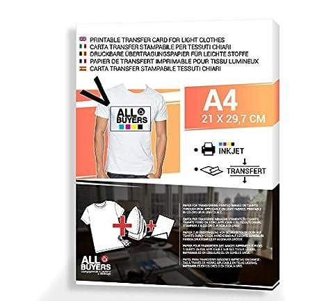 cfda2402ba Papel transfer para impresión para camisetas – A4 – Transferencia de lavabo  sobre eslabones Col Hierro