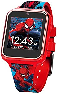 Marvel Boys' Touch-Screen Watch with Silicone Strap, red, 19.5 (Model: SPD458