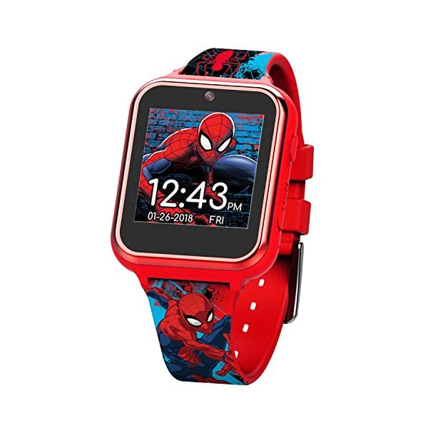 Marvel Boys' Touch-Screen Watch with Silicone Strap, red, 19.5 (Model: SPD4588AZ)