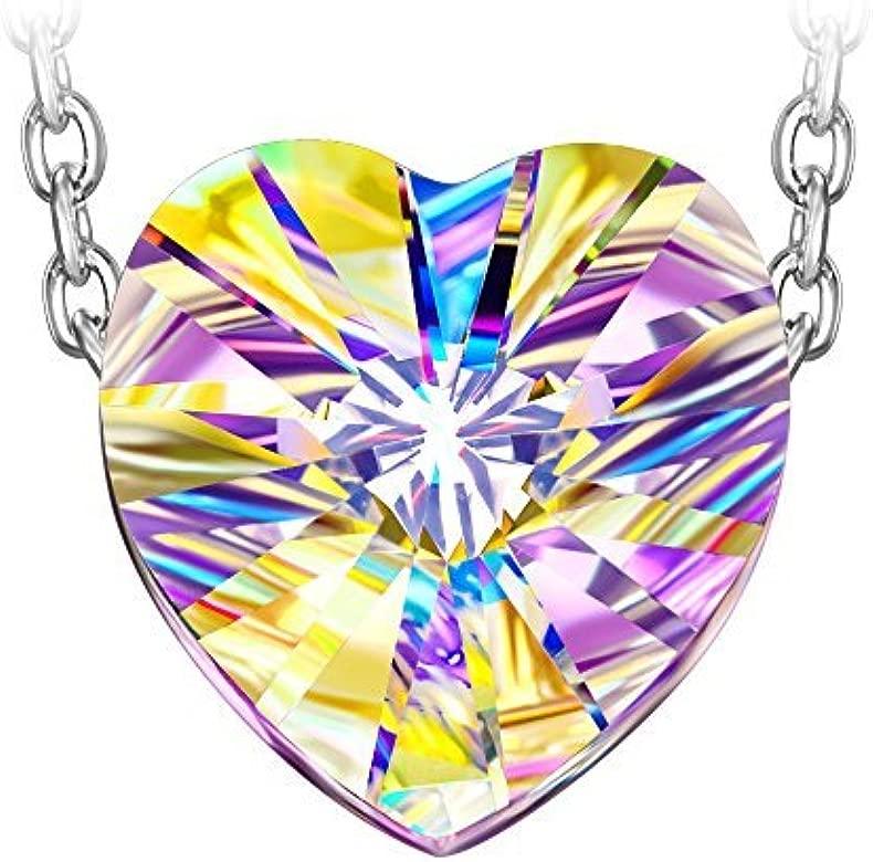 Susan Y Guardian del Amor Collar Mujer Swarovski Cristales Corazon Joyeria Regalos Cumpleanos Regalos Navidad San Valentin Dia de La Madre Regalo ...
