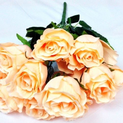 Elegant Amazon.com: Artificial Flowers Silk Fake Assorted Champagne Roses  Arrangements Wedding Party Hotel Event Christmas Gift Craft Decoration Home  Decor 2 ...