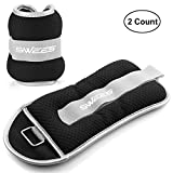 SWEES Ankle Wrist Weights (1 Pair), Ankle/Wrist Weights Pair Set with Adjustable Strap for Arm, Hand & Leg - 1 to 5 lb for Women, Men or Children - Best for Fitness, Exercise, Walking, Gymnastics