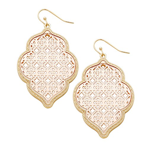 rosemarie-collections-womens-two-tone-metal-cutout-moroccan-dangle-earrings-gold-tone-and-rose-gold