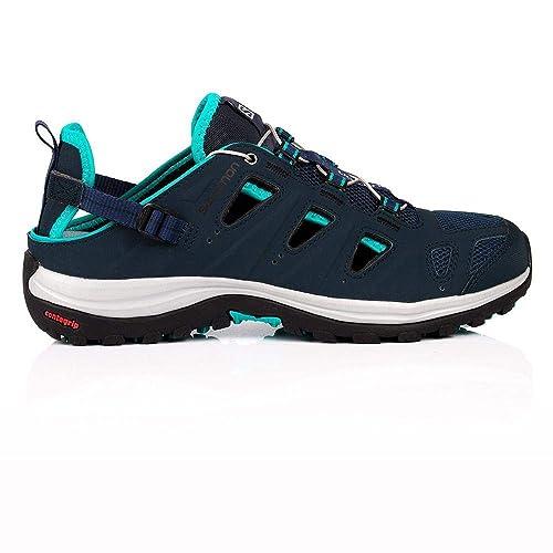 Salomon Ellipse Cabrio, Zapatillas de Senderismo para Mujer, Azul (Deep Slateblue/Teal