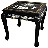 ORIENTAL FURNITURE Claw Foot End Table – Black Mother Pearl Ladies For Sale