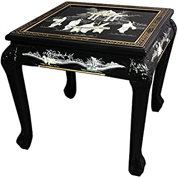 Amazon Com Oriental Furniture Claw Foot End Table Black