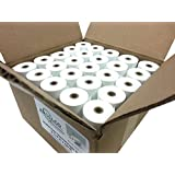 "2 1/4"" x 60' Mini-Core BPA Free Thermal Paper Rolls. Box of 50. 1.5""/38mm OD"