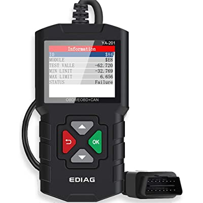 EDIAG YA-201 Code Reader Car Diagnostic Tool Full Obd2 Scanner Check Engine Light Vehicle Code Reader for O2 Sensor EVAP Systems Upgraded Graphing Battery State and Live Data for OBDII Protocol Cars: Automotive