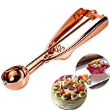#3: Mini Cookie Scoop Copper Ice Cream Scoops 18/8 Stainless Steel Scoop Melon Baller Fruit Salad Scoop Truffle Scoop-Ideal For Scoop and Drop Cookie Dough or Cake Pops MBOAT 40MM