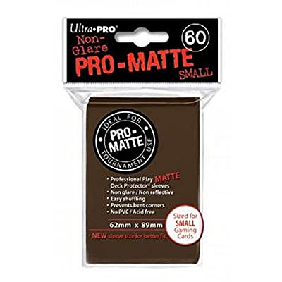 Ultra Pro Sleeves Pro-Matte Trading Card Game (Small, Brown): Toys & Games