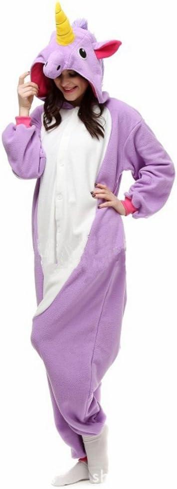 misslight Unicornio Pijamas Animal Ropa de Dormir Cosplay Disfraces Pijamas para Adulto Niños Juguetes y Juegos (S, Purple)