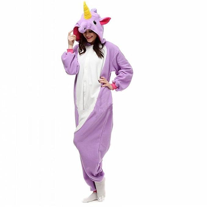 Misslight pijama o disfraz de unicornio unisex para niño o adulto morado Medium