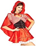 Forum Novelties Women's Fairy Tale Red Riding Hood Costume