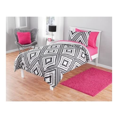 New Keeco Reversible Geo Aztec Comforter Set, Twin free shipping