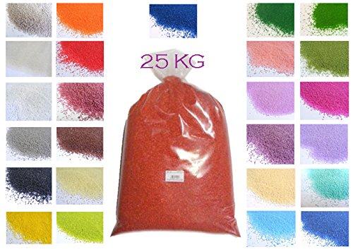 25 25 25 kg von Sand dünn 0.4 – 0.7 mm Bordeaux B01MQDHYNG Granulate e26271