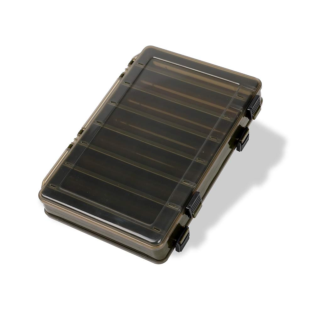 King wow Fishing Lure Box Double Sided Tackle Storage Trays Fishing Tackle Storage 14 Compartment Waterproof Visible Plastic Box Fishing Tackle Container (Green) by King wow