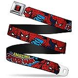 Buckle Down Boys' Seatbelt Belt Spider-Man, Multi, Regular