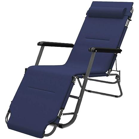 GMZDYTY Lazy Lounge Chair, Silla Plegable, Silla De Playa Al ...